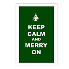 Keep Calm and Merry On Postcards (Package of 8)