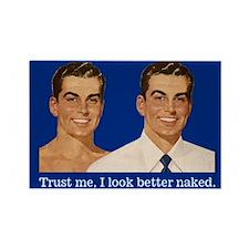 Naked Man Fridge Magnet
