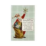 Santa Claus Fridge Rectangle Magnet
