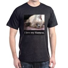 Siamese Cat Black T-Shirt