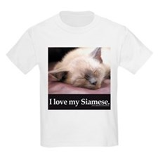Siamese Cat Kids T-Shirt