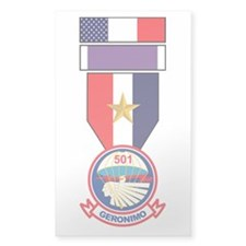 501st Airborne Purple Heart Recipient Decal