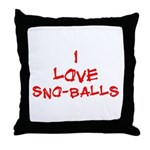 I Love SnoBalls Throw Pillow