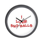 I Love SnoBalls Wall Clock