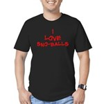 I Love SnoBalls Men's Fitted T-Shirt (dark)