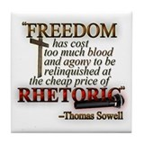 """Freedom for Rhetoric"" Tile Coaster"