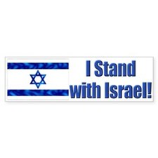 I Stand with Israel! Bumper Bumper Sticker