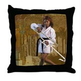 Sexy Kung Fu Throw Pillows Throw Pillow