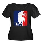 Tea Party Logo Women's Plus Size Scoop Neck Dark T