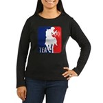 Tea Party Logo Women's Long Sleeve Dark T-Shirt