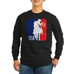 Tea Party Logo Long Sleeve Dark T-Shirt