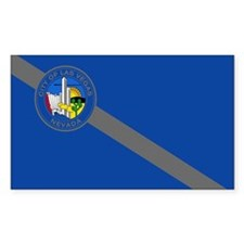 Las Vegas City Flag Rectangle Sticker 10 pk)
