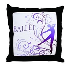 Ballet - scroll Throw Pillow