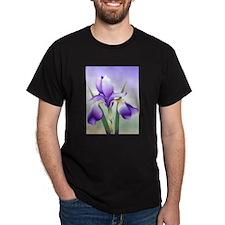 Purple Iris symbol for gynecologic cancer with sky