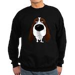Big Nose Springer Spaniel Sweatshirt (dark)