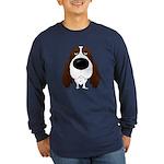 Big Nose Springer Spaniel Long Sleeve Dark T-Shirt