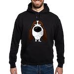 Big Nose Springer Spaniel Hoodie (dark)