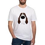 Big Nose Springer Spaniel Fitted T-Shirt