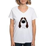 Big Nose Springer Spaniel Women's V-Neck T-Shirt
