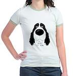 Big Nose Springer Spaniel Jr. Ringer T-Shirt