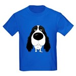 Big Nose Springer Spaniel Kids Dark T-Shirt