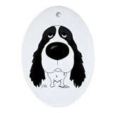 Big Nose Springer Spaniel Oval Ornament