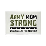 Army Mom Strong 2 Rectangle Magnet