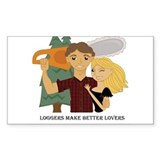 Logger's Make Better Lover's Rectangle Decal
