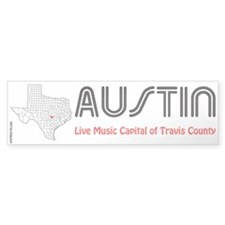 Austin Live Music Capital Bumper Bumper Sticker