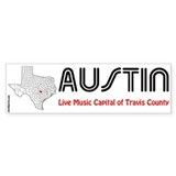 Austin Live Music Capital Bumper Sticker (10 pk)