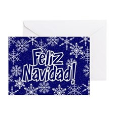Snowflakes - spanish Greeting Cards (Pk of 10)