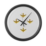 DoubleWingGold Large Wall Clock