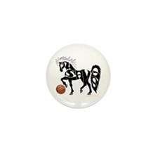 Basketball Team Mustangs (Black Design) Mini Butto