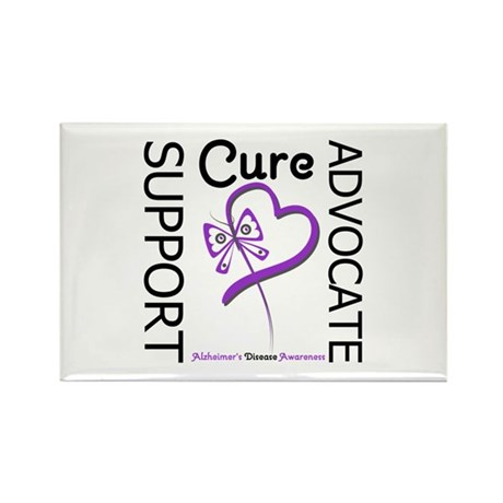 Alzheimer's Support_Advocate Rectangle Magnet