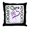 Alzheimer's Support_Advocate Throw Pillow