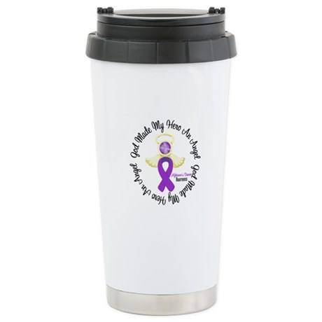 Alzheimer's AngelRibbon Ceramic Travel Mug