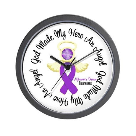 Alzheimer's AngelRibbon Wall Clock