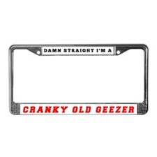 Cranky Old Geezer License Plate Frame