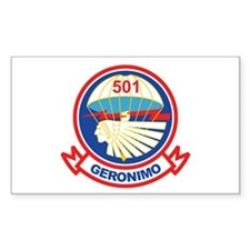 501st Airborne (Geronimo) 2 Rectangle Decal