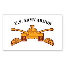 Armor Branch Insignia U.S. Ar Rectangle Decal