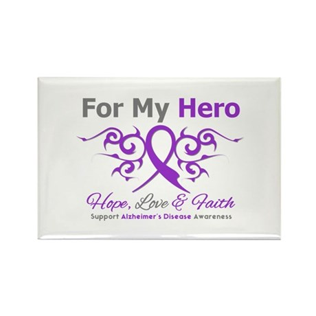 Alzheimer's For My Hero Rectangle Magnet