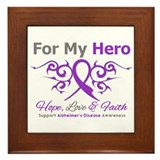 Alzheimer's For My Hero Framed Tile