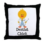Dentist Chick Throw Pillow