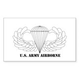Clear Airborne Wings Rectangle Decal