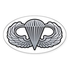 Basic Airborne Wings Oval Decal