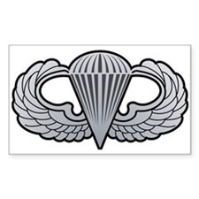 Basic Airborne Wings Rectangle Decal