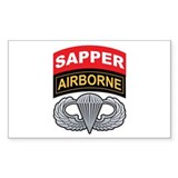 Sapper/Airborne Tab Basic Air Rectangle Decal