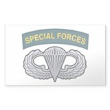 Basic Airborne Wings Special Rectangle Decal