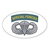 Basic Airborne Wings Special Oval Decal