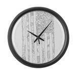 USA! USA! Large Wall Clock